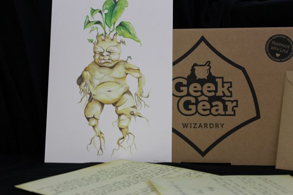 Mandrake Painting - A4 - Parchment Paper