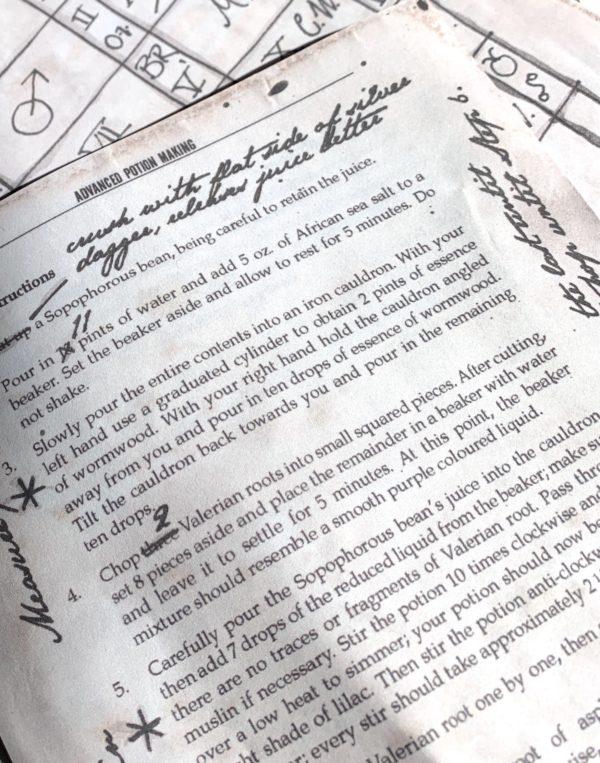 Draught of Living Death Pages – Parchment Paper
