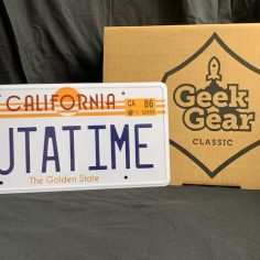 Back to the Future DeLorean License Plate