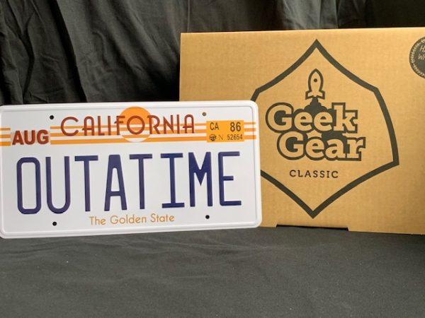 Back to the Future DeLorean License Plate