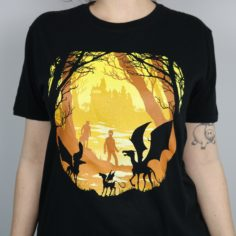 Magical Forest Beasts T-Shirt (Black)