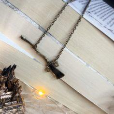 Metal Broom Necklace
