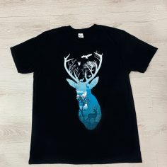 Spell Stag T-Shirt (Black)