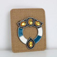 Scottish Witch Brooch Pin