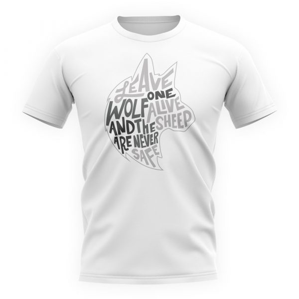 White Short Sleeved T-Shirt featuring a quote from Walder Frey from Game of Thrones talking about the Stark Family.