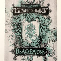 Licensed and Exclusive Beauxbatons Academy Triwizard Print