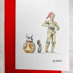 Exclusive Kevin Cantwell Classic Christmas Cards x 2