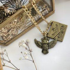 Owl Acceptance Letter Necklace