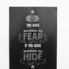 Licensed and Exclusive You Have Nothing To Fear Print
