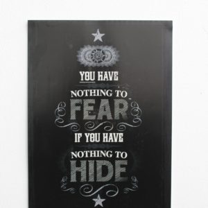 You Have Nothing To Fear Print