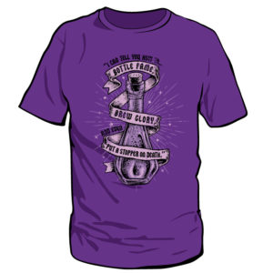 Snape's Power Trip Short Sleeved Purple T-Shirt