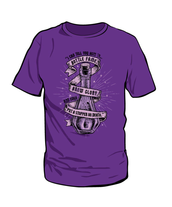 Snape's Power Trip Short Sleeved Purple T-Shirt