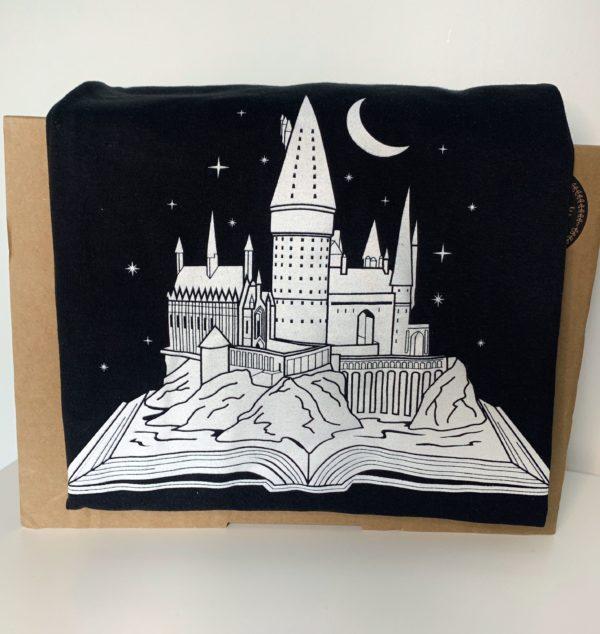 Hogwarts Castle Book T-Shirt (Black)