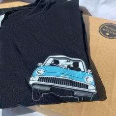 Flying Ford Anglia Pocket Logo T-Shirt (Black)