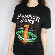Pumpkin Juice Short Sleeved T-Shirt (Black)