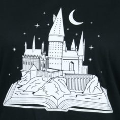 Castle Book T-Shirt (Black)
