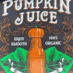 Pumpkin Juice Short Sleeved T-Shirt (Black)