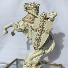 Deluxe White Knight Chess Piece