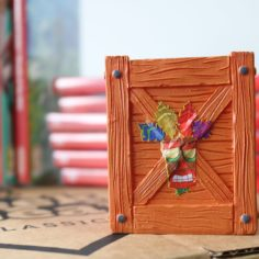 Crash Bandicoot Aku Aku Crate Replica