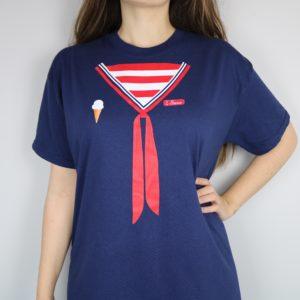 Stranger Things Scoops Ahoy Short Sleeved T-Shirt (Black)
