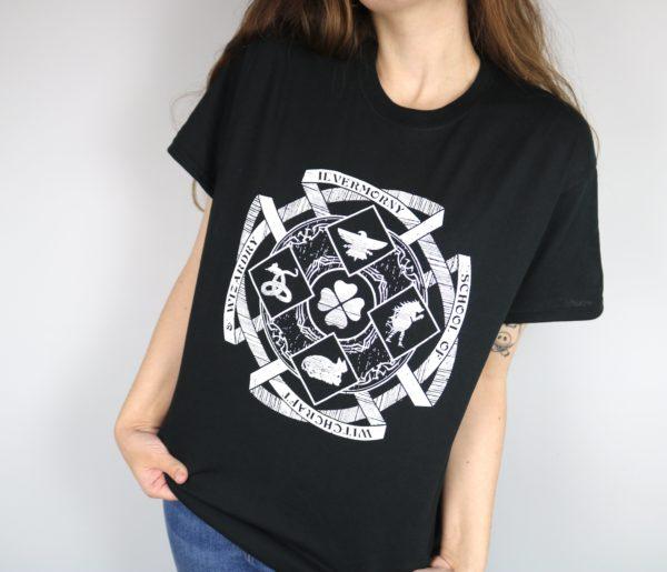 Ilvermorny School Crest T-Shirt (Black)