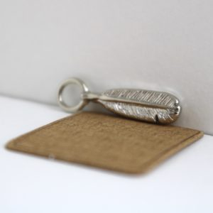 Feather Charm Bracelet Charm