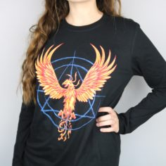 Phoenix Hallows Long Sleeved Shirt (Black)