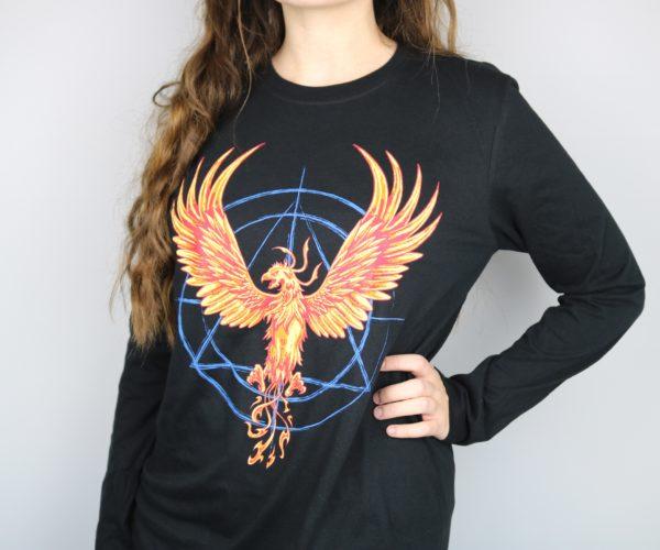 Phoenix Hallows Long Sleeved Shirt (Black)