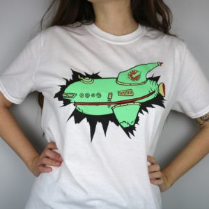 Exclusive Planet Express Short Sleeved T-Shirt (White)
