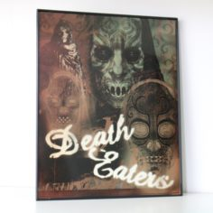 Licensed & Exclusive Death Eater Print in Glass Display Frame