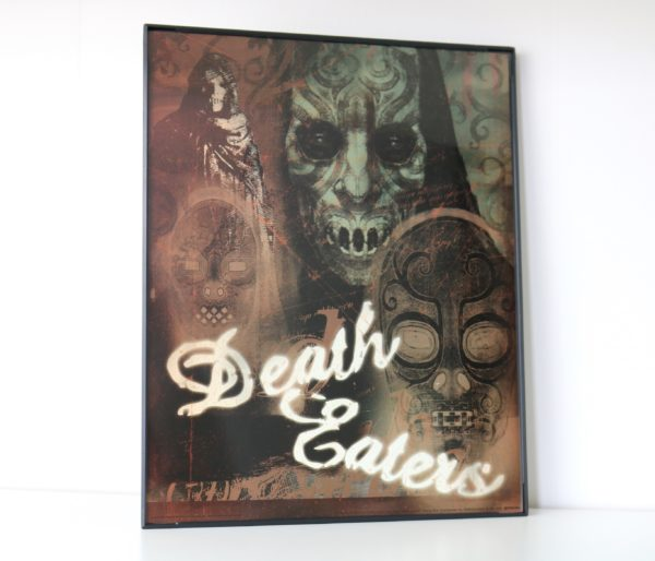 Licensed & Exclusive Death Eater Print in Glass and Metal Display Frame