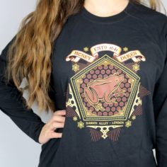Exclusive Wizarding World Chocolate Treat Long Sleeved Shirt (Black)