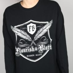 Exclusive Wizardry Stationery Store Long Sleeved T-Shirt (Black)