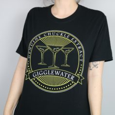 Exclusive Gigglewater Short Sleeved T-Shirt (Black)