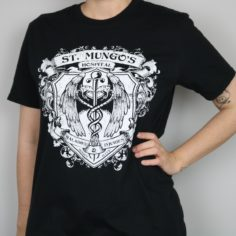 Exclusive Magical Infirmary Short Sleeved T-Shirt (Black)
