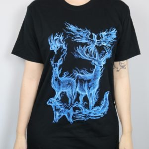 Exclusive Animal Projections Short Sleeved T-Shirt (Black)