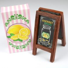 Exclusive Wizardry Sweets Lemon Sandwich Board