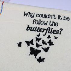 Wizardry Follow the Butterflies Pin Flag