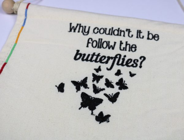 Wizardry Follow the Butterflies Pin Flag