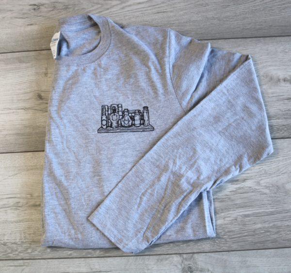 Wizardry Potion Shelf Long Sleeve T-Shirt (Grey)