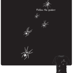 Wizardry Follow the Spiders Short Sleeve T-Shirt (Black)