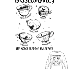 Wizardry Tea Leaves Long Sleeve T-Shirt (White)