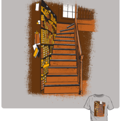 Wizardry Wands Shop Short Sleeve T-Shirt (Grey)
