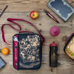 Harry Potter 2 PKT Lunchbag with Bottle – Black