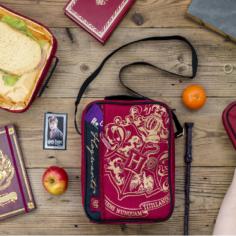 Harry Potter Deluxe 2 Pocket Lunch Bag (Burgundy) – Crest