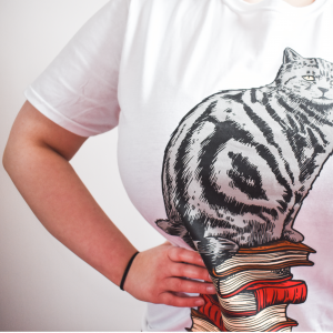 Wizardry Cat Form Short Sleeve T-Shirt (White)