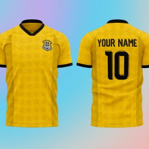 Personalised Wizardry Sports Team Shirt – Yellow